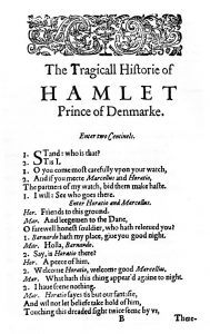 The first page of Hamlet