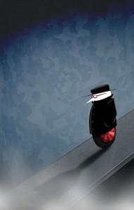 Strange futuristic image of a spy