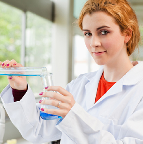 Biology Student working in a laboratory