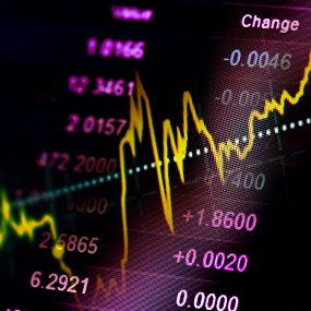 stock exchange image with economic graph