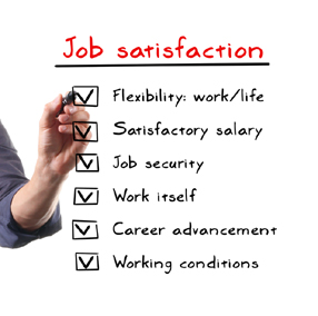 Job satisfaction tick box questionnaire