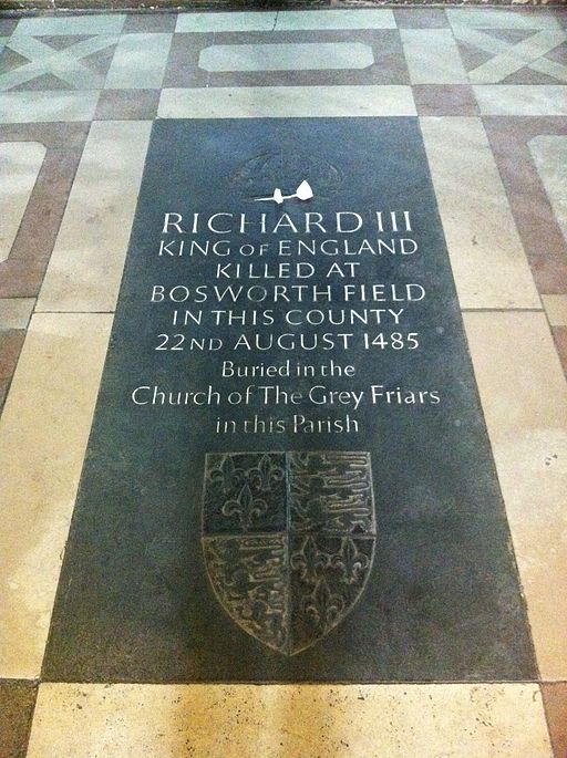 Memorial to King Richard III if England