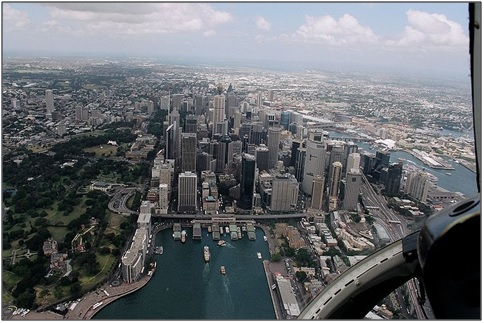 Oblique arial photograph of Sydney