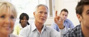 Older Learner in classroom