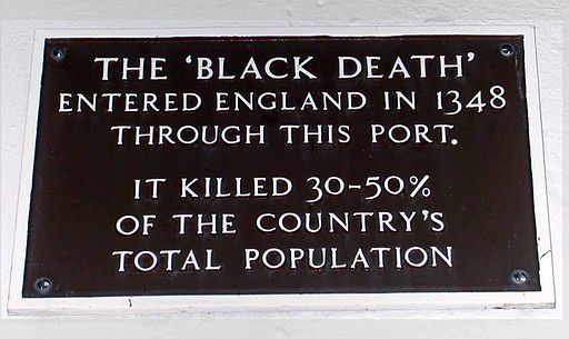 Black Death commerative plaque