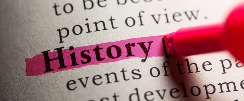 Highlighted dictionary definition of History