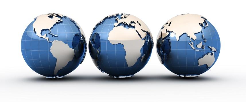 Image showing three globes