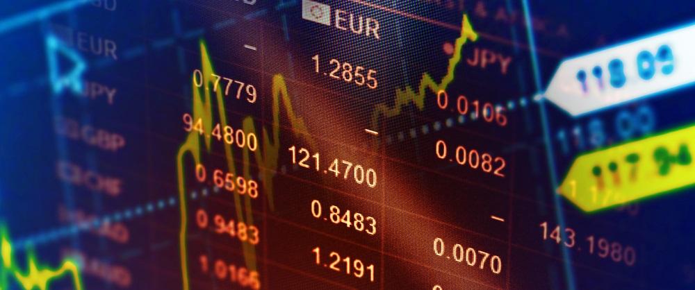 Economics stock exchange image with graph overlay